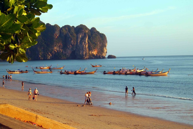 Long Tail boat are back after a daily tours along Krabi islands