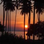 A sugestive sunset in Klong Muang Beach, Krabi