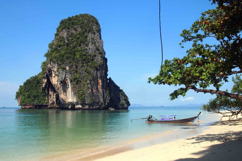 a beautiful view of Phra Nang Beach, one of the best spot in Krabi province
