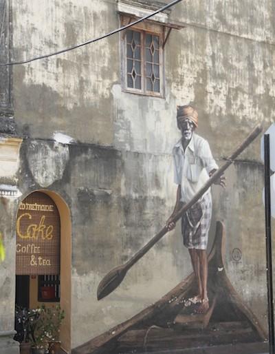 Mural painting in a Penang street