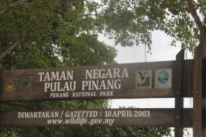 Taman Negara entrance signboard