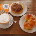 Bagels, croissants and cappuccino, regular fare at The Mugshot!