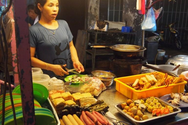 Street food stall at Penang's Chulia Street