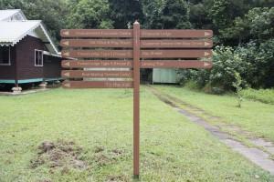 Bako National Park signboards