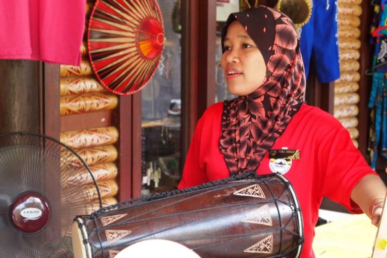A vendor at the village
