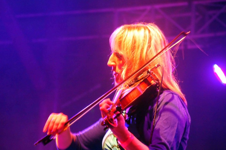 Ms. Dee Armstrong performing her violin