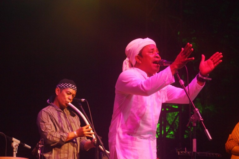 Rafly with flutist Saat Syah