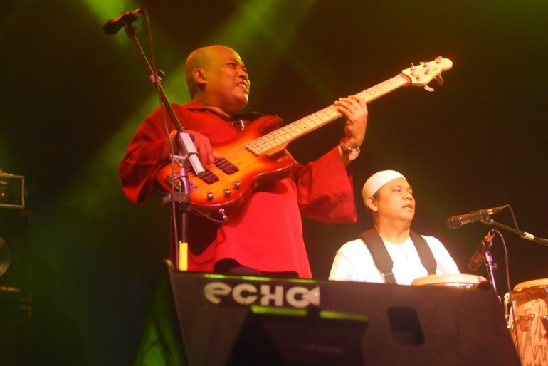 Funky bassist Adi Darmawan
