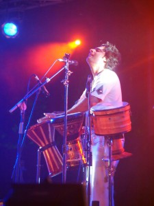 Percussionist of Mohsen Sharifian and The Lian Band