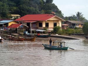 cruising to Bako along local life