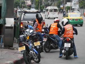 Getting around Bangkok by mototaxi