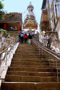 Swayambunath steps