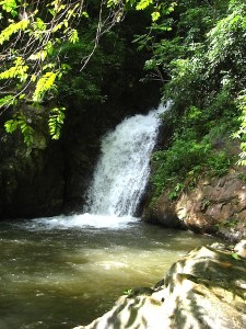 One of Huay to waterfall jumps