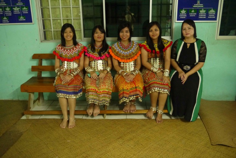 Family members and I dressed in traditional clothes