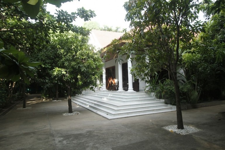 the main reception building