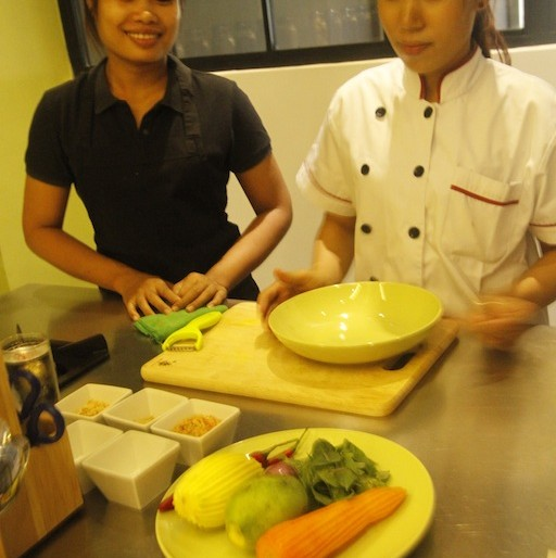 My teachers for the day at La Table Khmere
