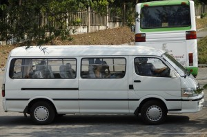 James 14 seater minivan