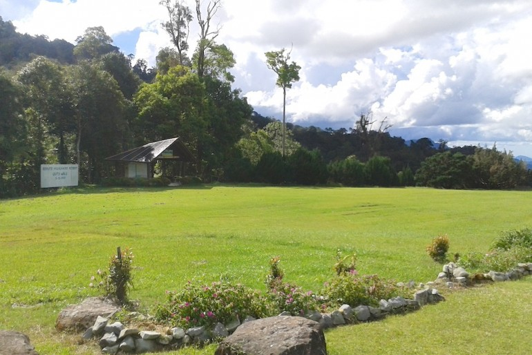 The resort grounds