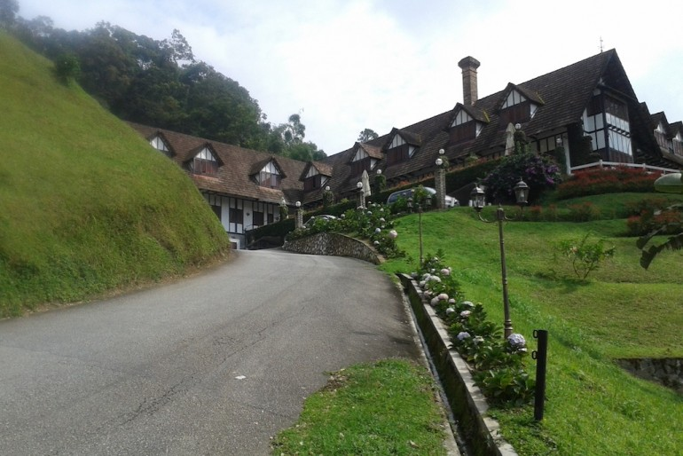 Tudor style hotel at Cameron Highlands