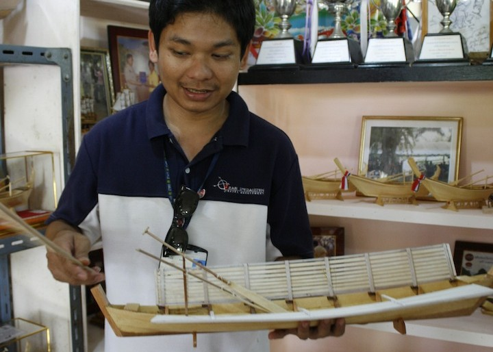 At the miniature boats workshop