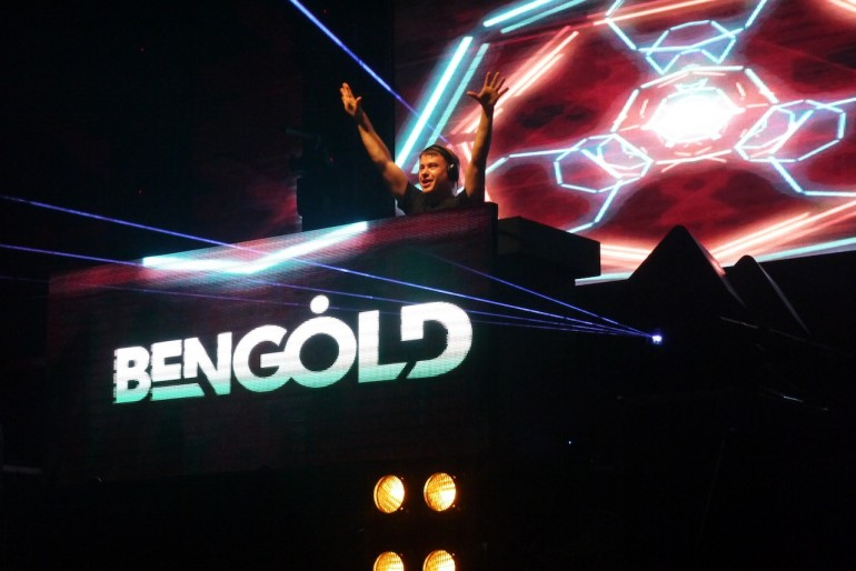 Ben Gold on stage at Trance ALOT