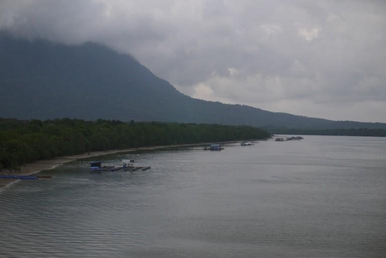 Fish farms near Santubong
