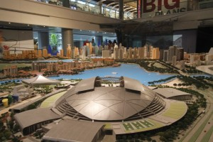 Central area model at Singapore city gallery