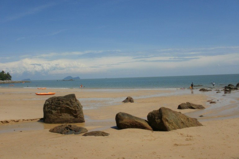 The magnificent beach at Santubong