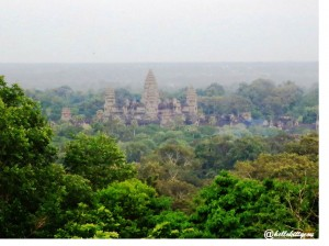 View of Angkor from Phnom Bakeang