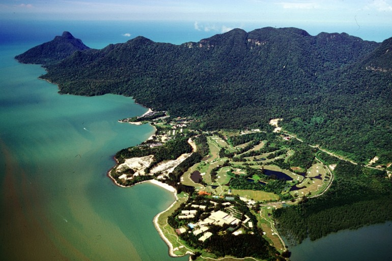 Aerial view of Damai and Santubong