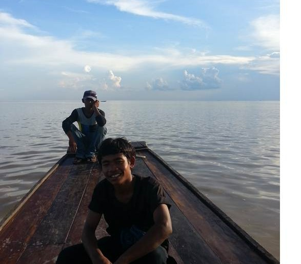 My tour guides at Tonlensap