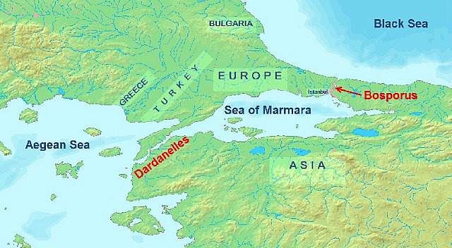 map of the Black Sea.