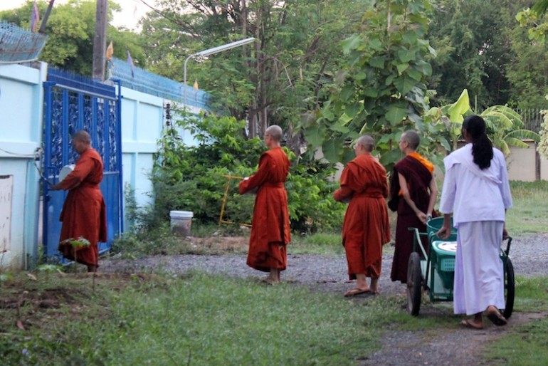 Lady monks at the temple