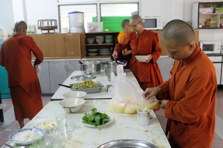 Monks' lunch