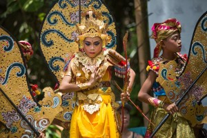 Balinese dancers on the lawn
