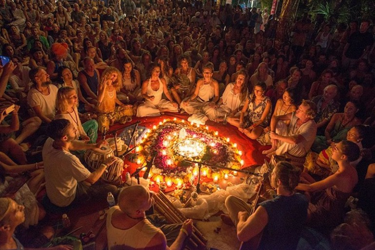 Spiritual circle at the festival