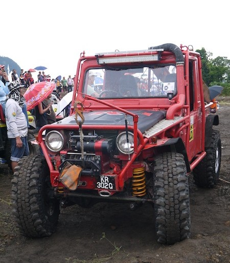One of the contestants at 4X4 Off Roaders Extreme Challenge