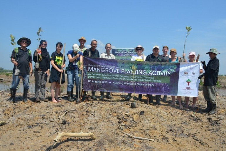 Tree planting at Kuching Wetlands National Park