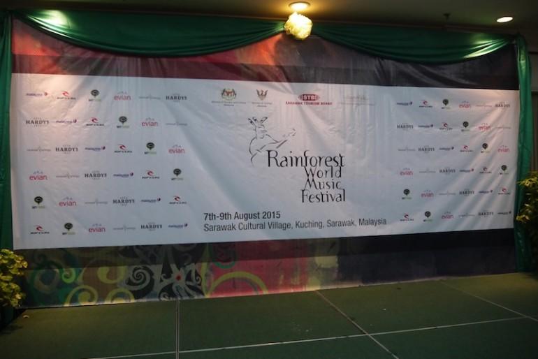 Rainforest World Music Festival banner