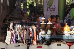 The handicraft stalls