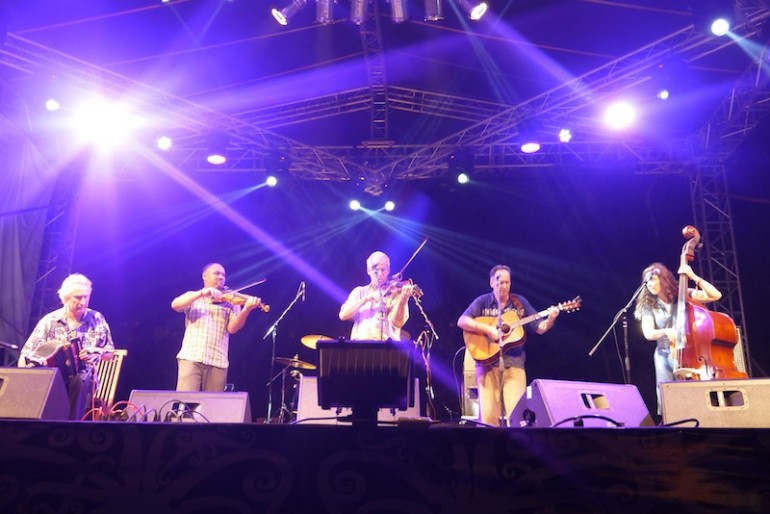 Night performance of Le Blanc Bros Cajun Band