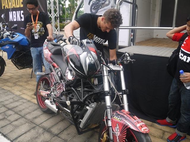 Aaron with his bike