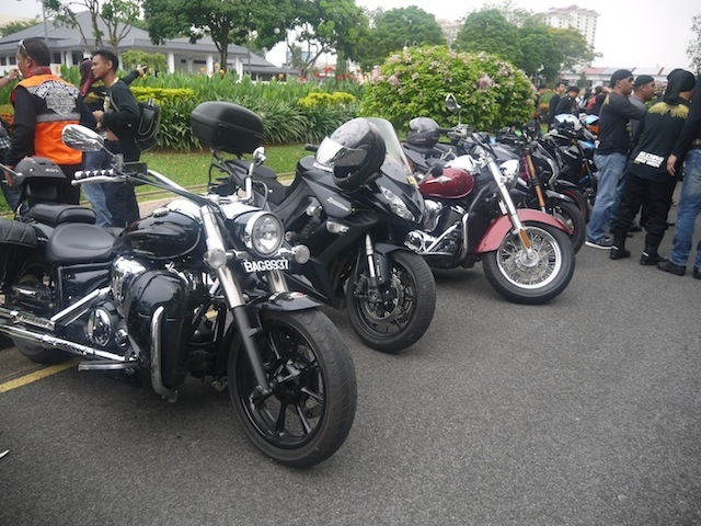 Big bikes at the event