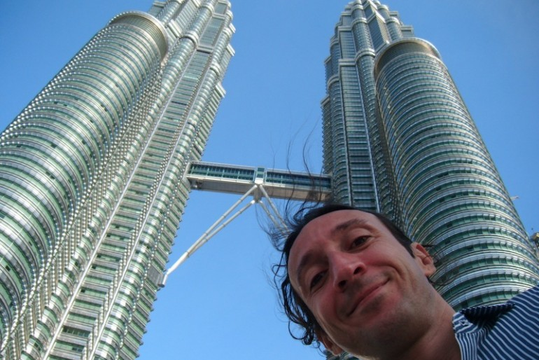 Thomas at the Petronas Towers