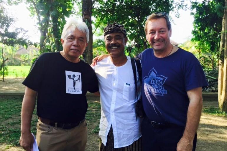 David Meetcalf at ARMA with Agung Rai