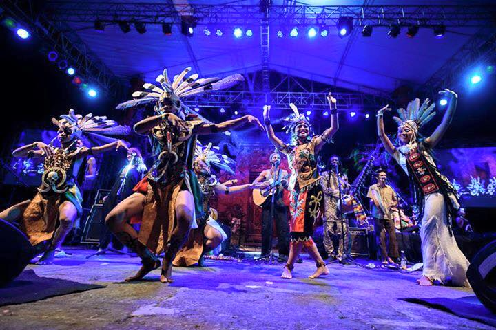 Dayak dancing on stage
