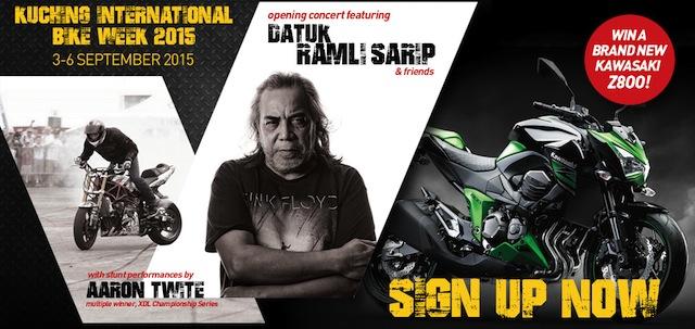 Kuching International Bike Week banner