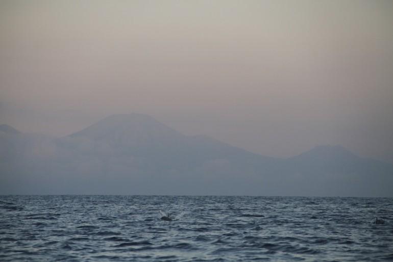 Silhouette of Java volcanoes