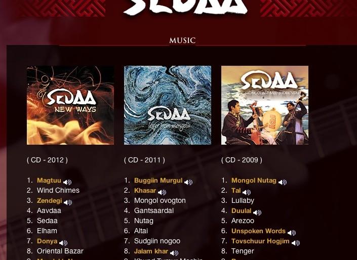 Sedaa albums