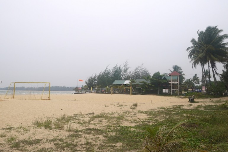 Cherating Beach tourist area